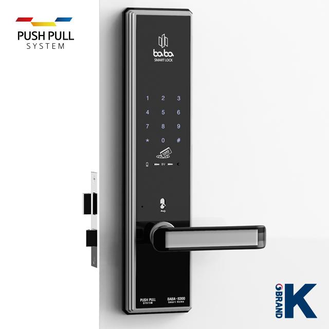 Electronic smart door lock baba-8300 swipe card handle fingerprint door lock