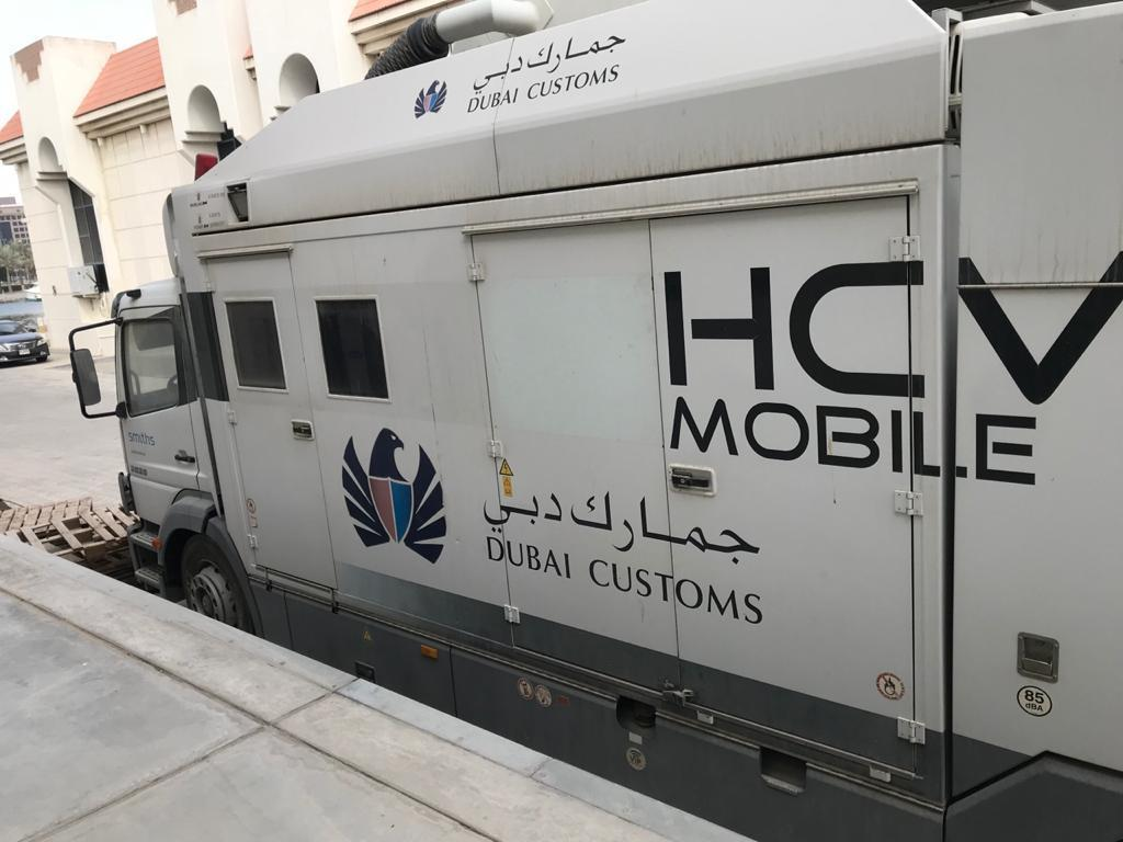 Smiths detection ,mobile high-energy inspection system, hcvm, mercedes-benz 2528 hcv x-gcc made in germany