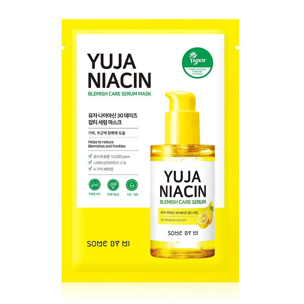 Some by mi yuja niacin blemish care serum mask (brightening and pigmentation),1pc