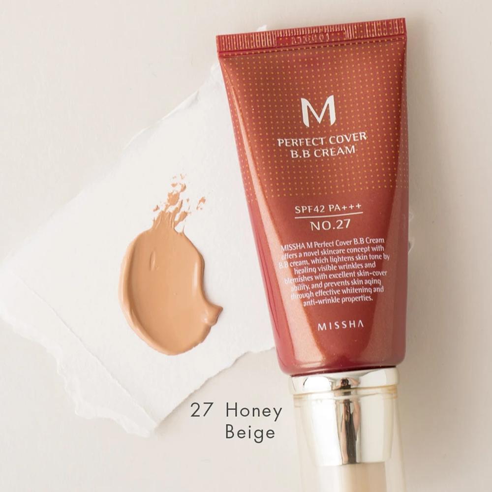 MISSHA Perfect Cover BB CREAM SPF42 No.27 Honey Beige_3