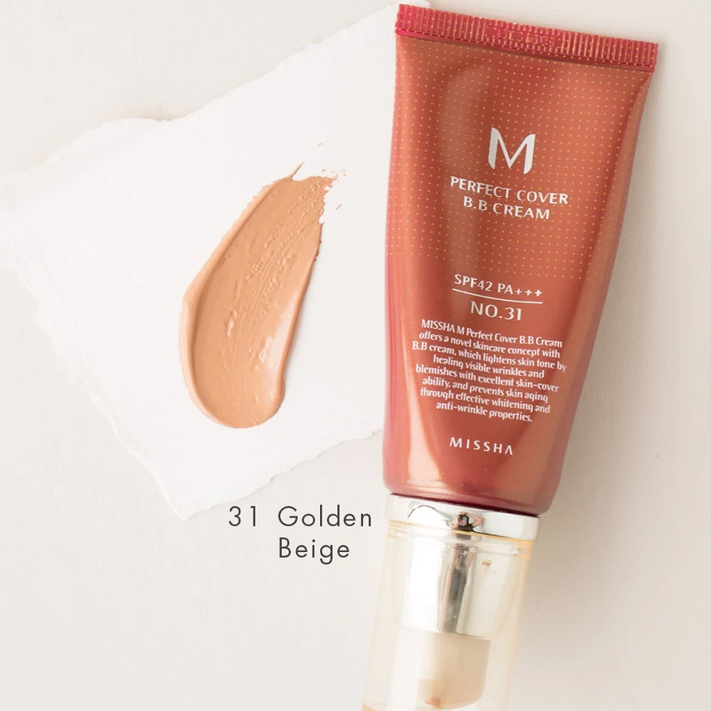 MISSHA Perfect Cover BB CREAM SPF42 No.31 Golden Beige_3