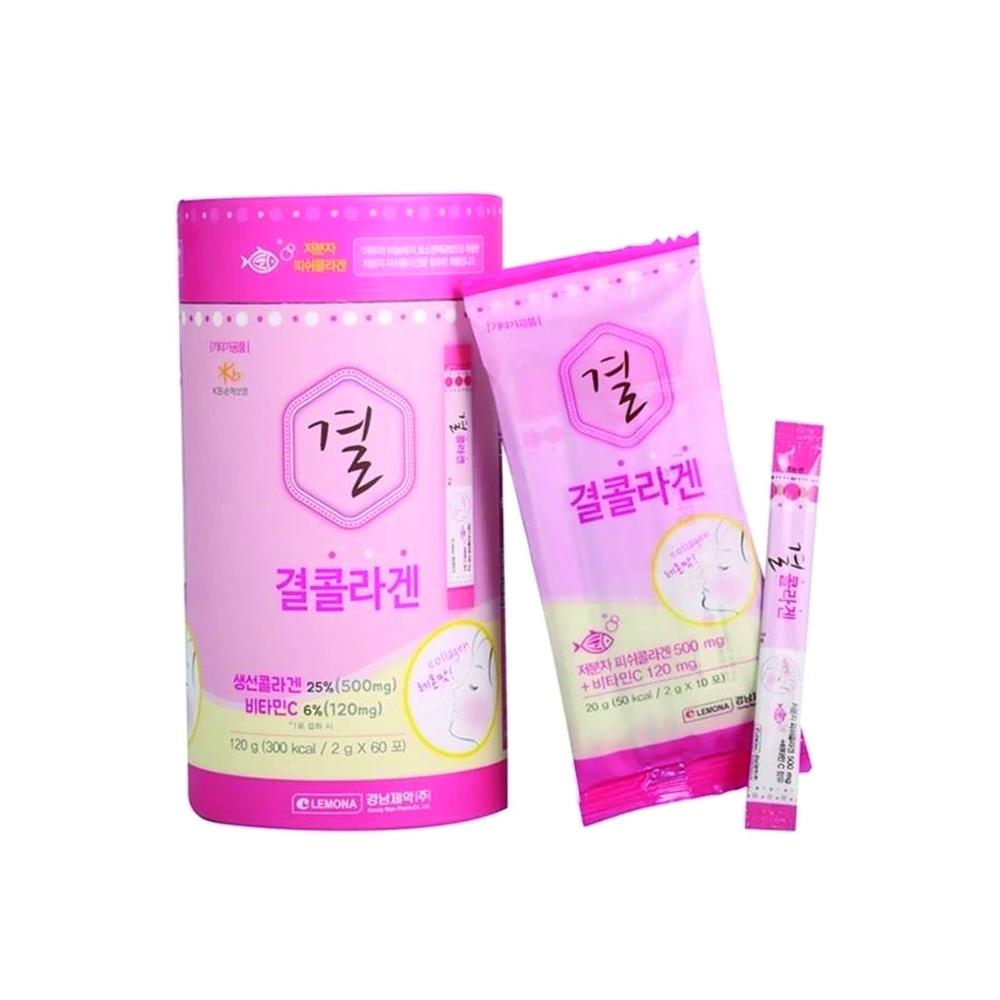 Kyungnam gyeol collagen with vitamin c powder - fish collagen (2g x 60 sachet)