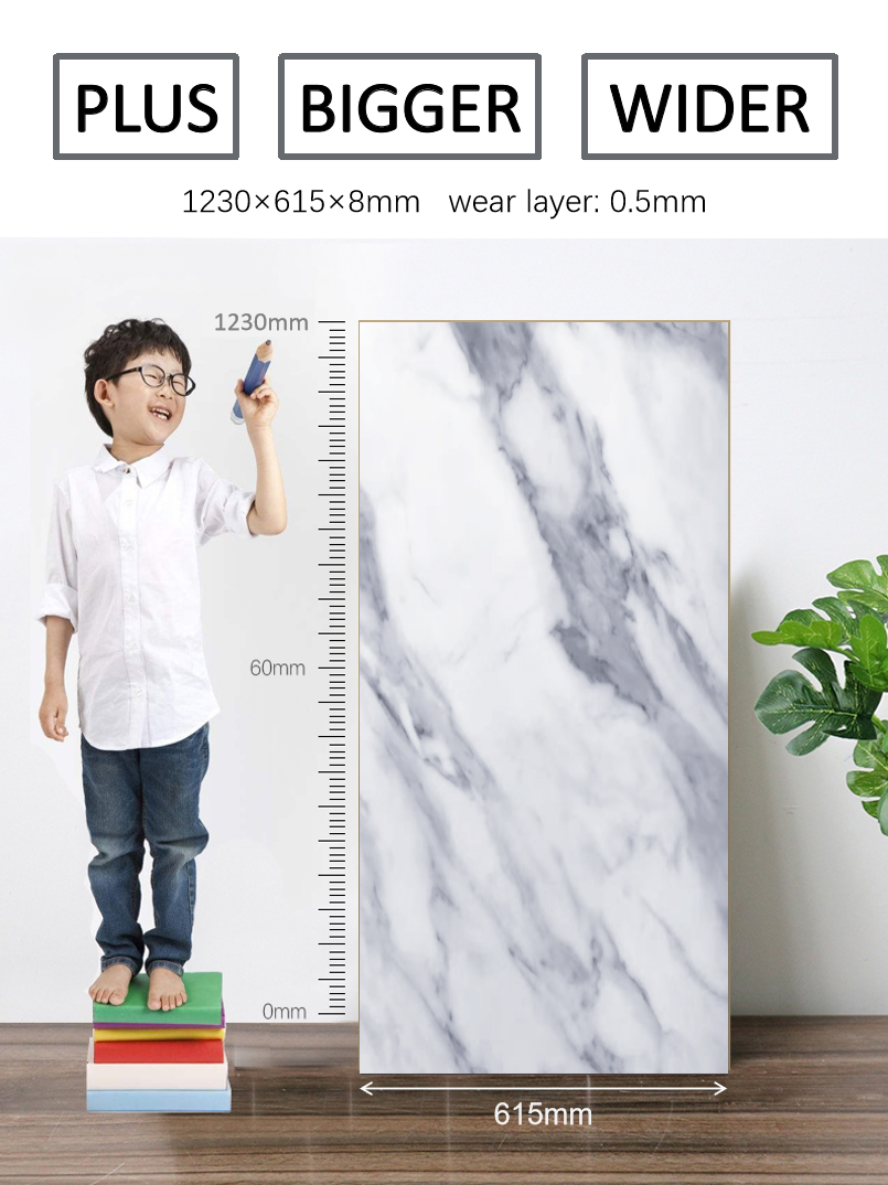 Customized Marble Design Waterproof Floor Click Lock Stone Plastic Flooring D021_4