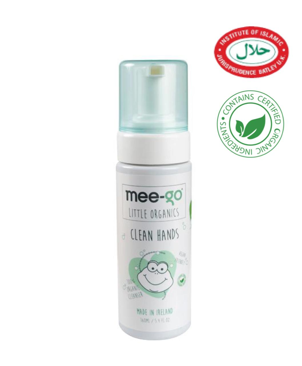 Mee-go little organics clean hands halal sanitizing foam