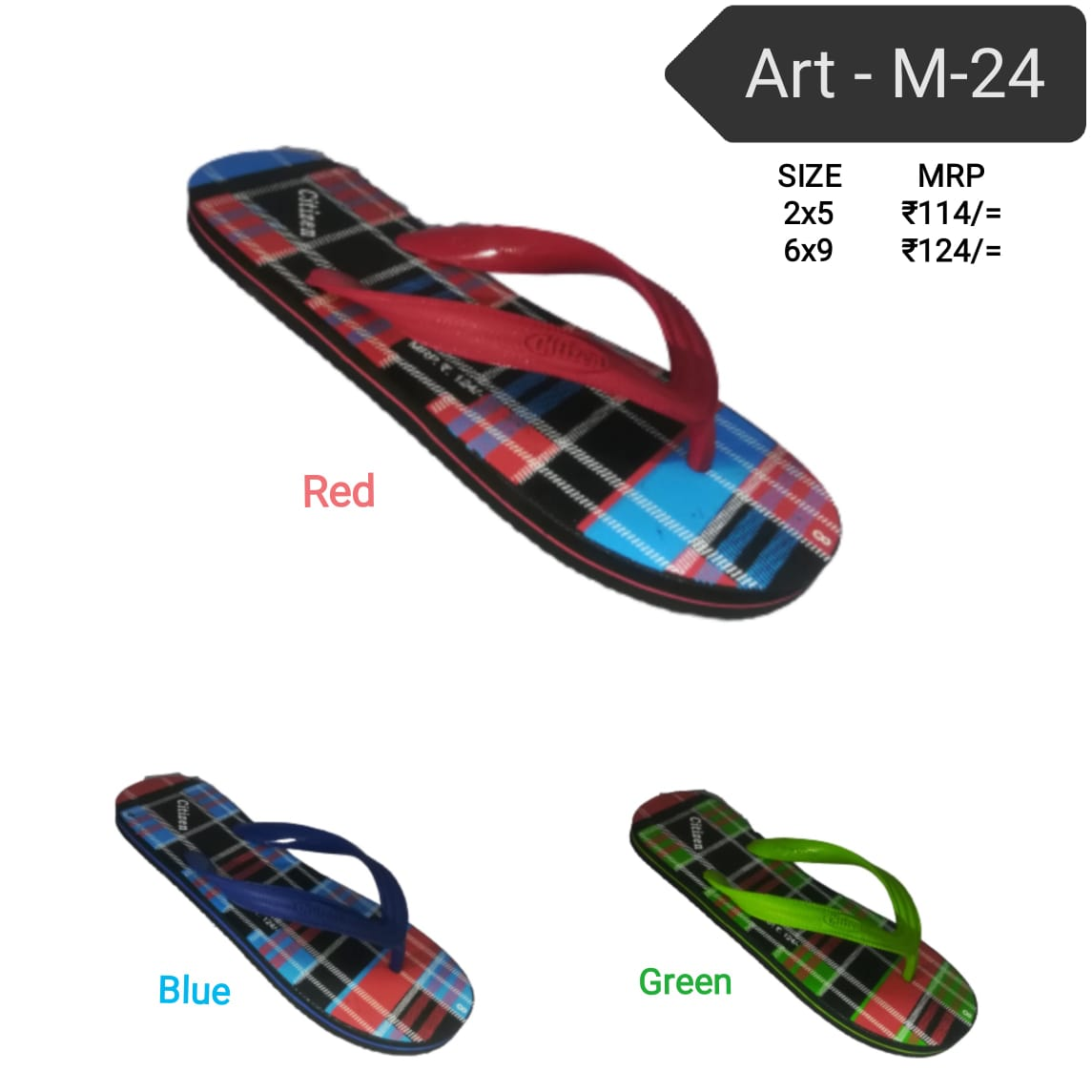 Citizen gents hawai - m 24 slippers , flip flops