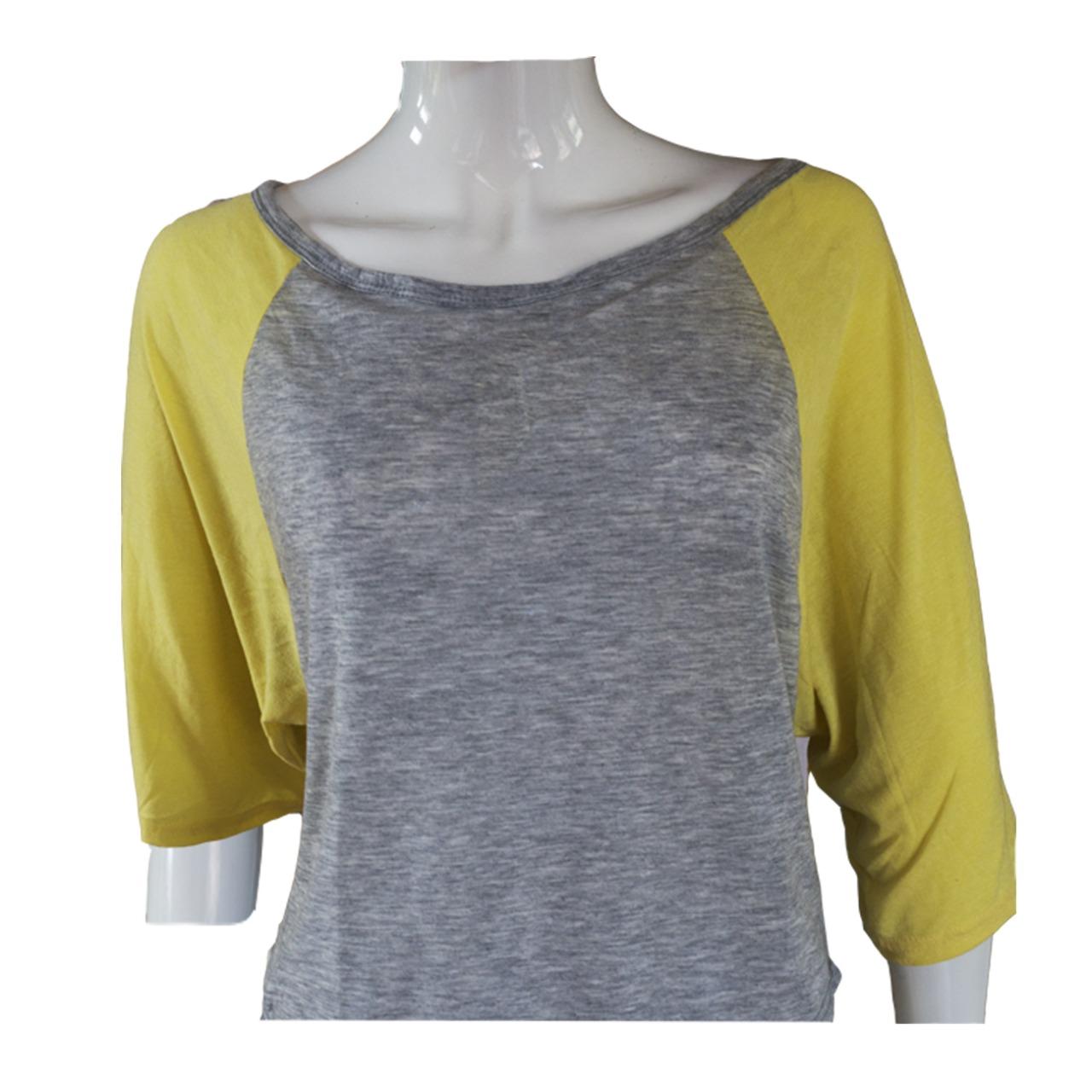 Women lemon grey top
