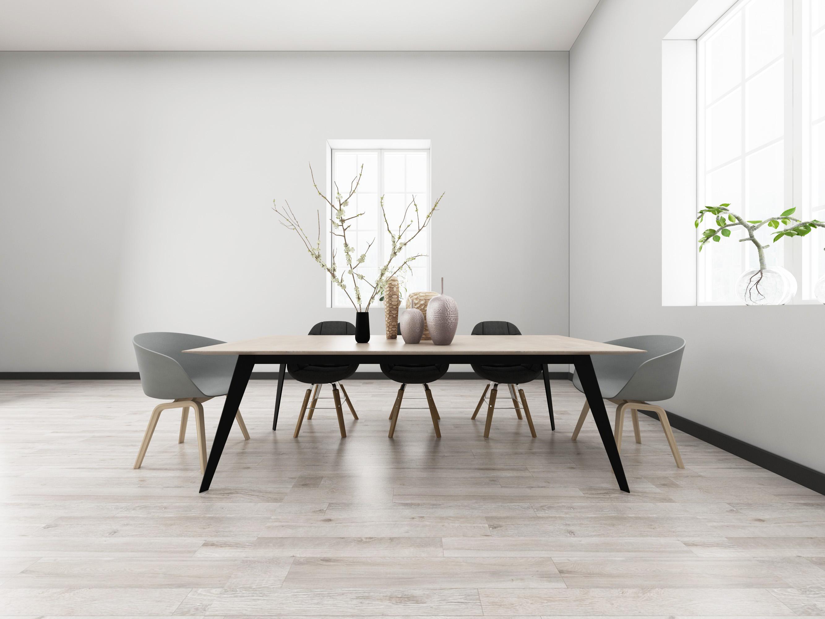 Top grade wood design light grey 8mm wear resistant baby sleep click spc plastic flooring for indoor N2701_4