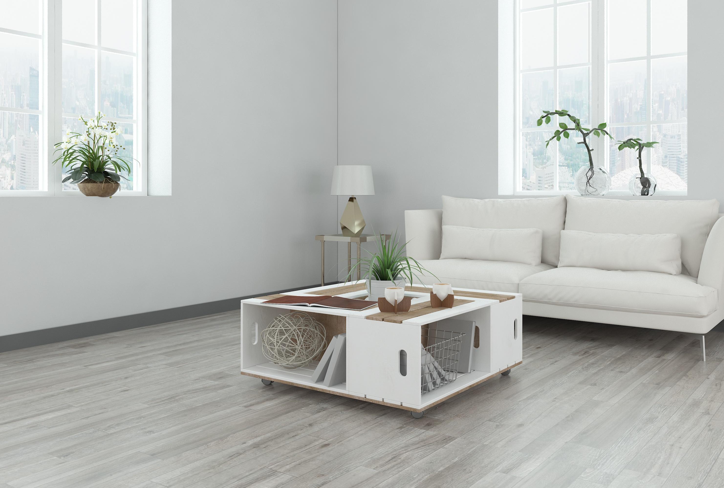 Top grade wood design light grey 8mm wear resistant baby sleep click spc plastic flooring for indoor N2701_5