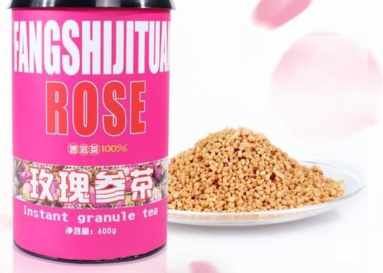 Rose ginseng tea