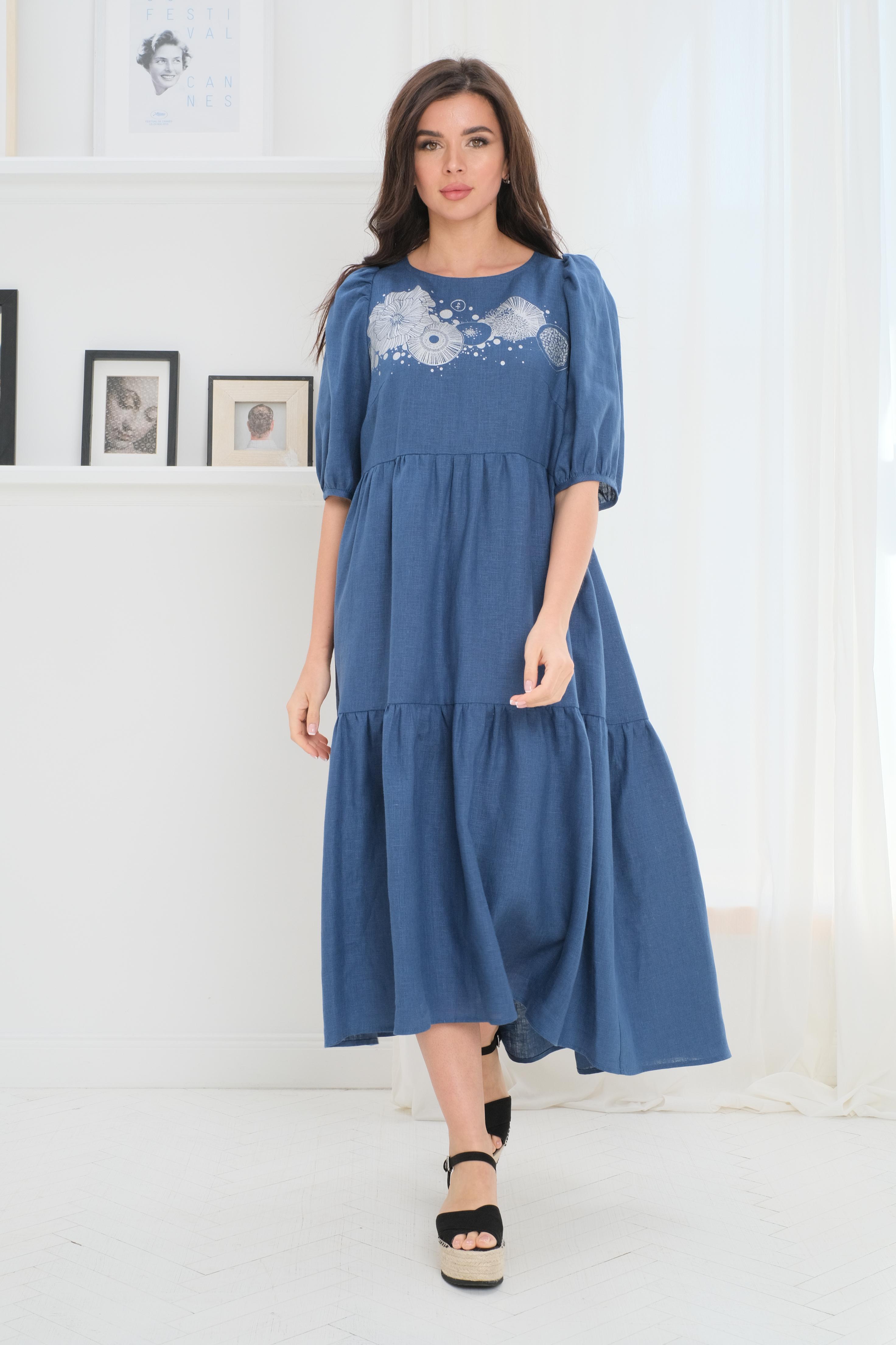 Everyday modern linen dress