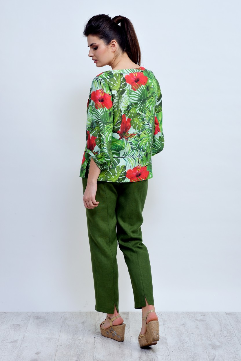Eco-friendly everyday bright linen suit- absolutely classy & chic!_3