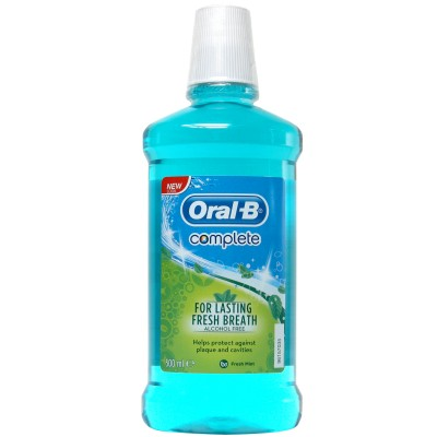 Wholesale oral-b complete mouth wash fresh mint (alcohol free) 500 ml