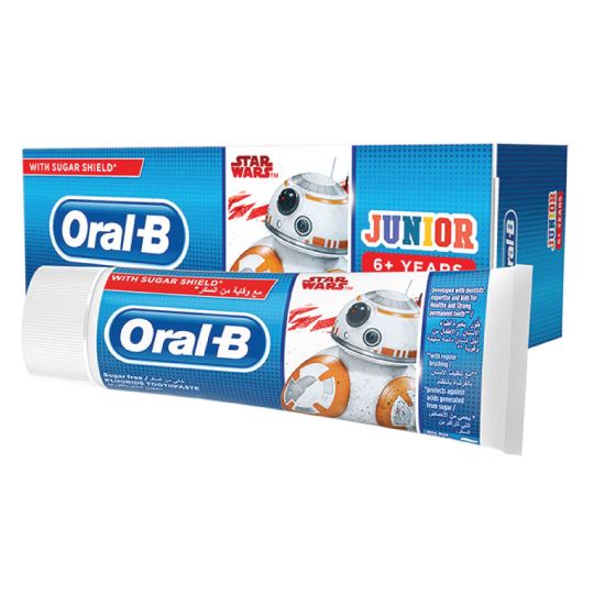 Wholesale ORAL-B JUNIOR 6  FLUORIDE STAR WARS TOOTHPASTE 75ML_2
