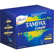 Wholesale tampax compak regular tampons 16pcs