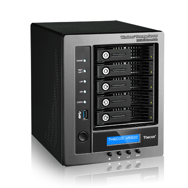 Wholesale 5 bay nas : intel celeron j1900 2.0ghz quad-core, 4gb ddr3 sdram usb 3.0 x 3. usb2.0x2. hdmi x 1 gbe lan x2  bundled with wss essentials