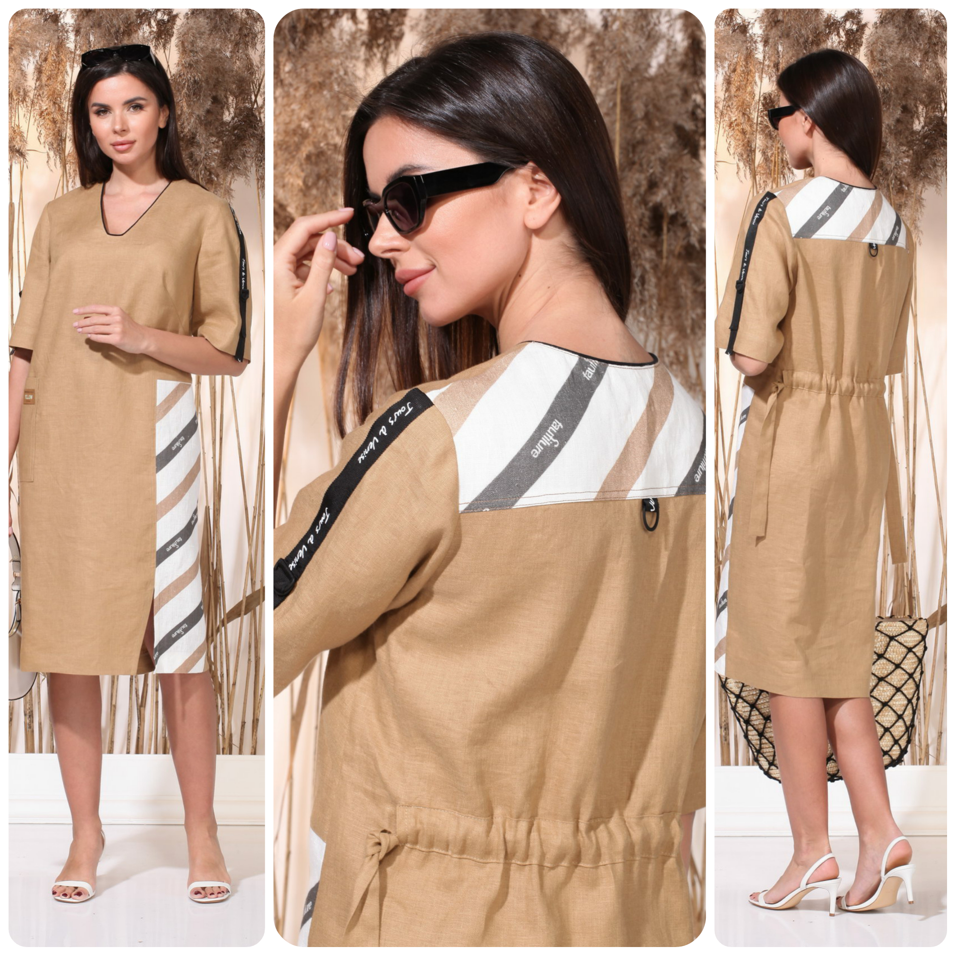Eco-friendly everyday dress made from 100% Belarusian linen_2