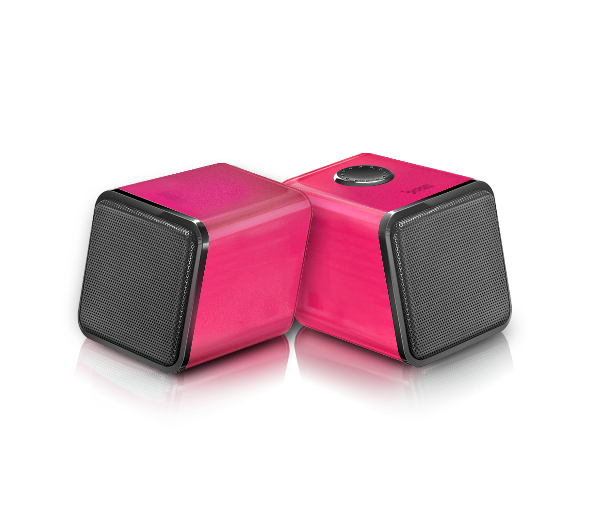 Wholesale laptop speaker : iris-02 pink stereo 2.0 usb speaker system-built-in latest digital amp