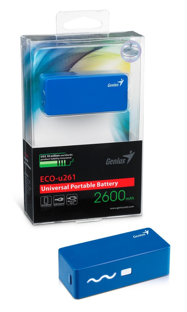 WHOLESALE POWER PACK : ECO-U261, 2600mAh, BLUE, COMPACT SIZE, 4 LED INDICATOR_3