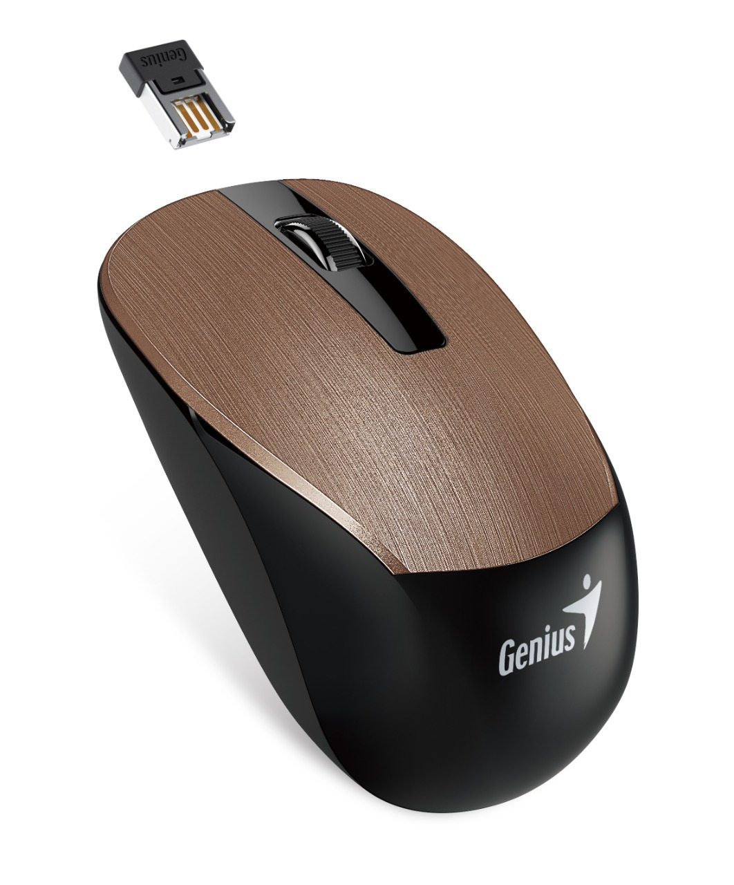 WHOLESALE MOUSE : NX-7015, BLUEEYE / UNIFIED RECEIVER,HAIRLINE DESIGN 1600 DPI BROWN_3