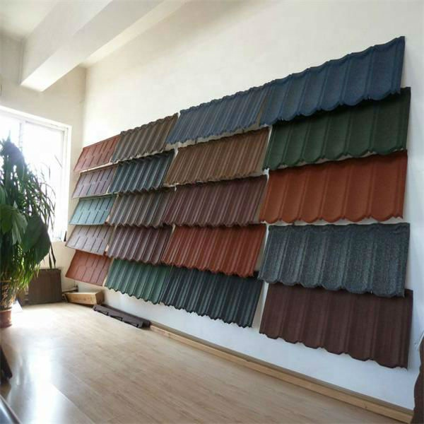 Stone coated metal roofing tile/stone chips finished tile