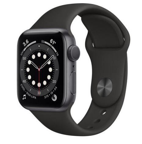Apple watch series 6 gps 40mm - space grey aluminum, black sport band