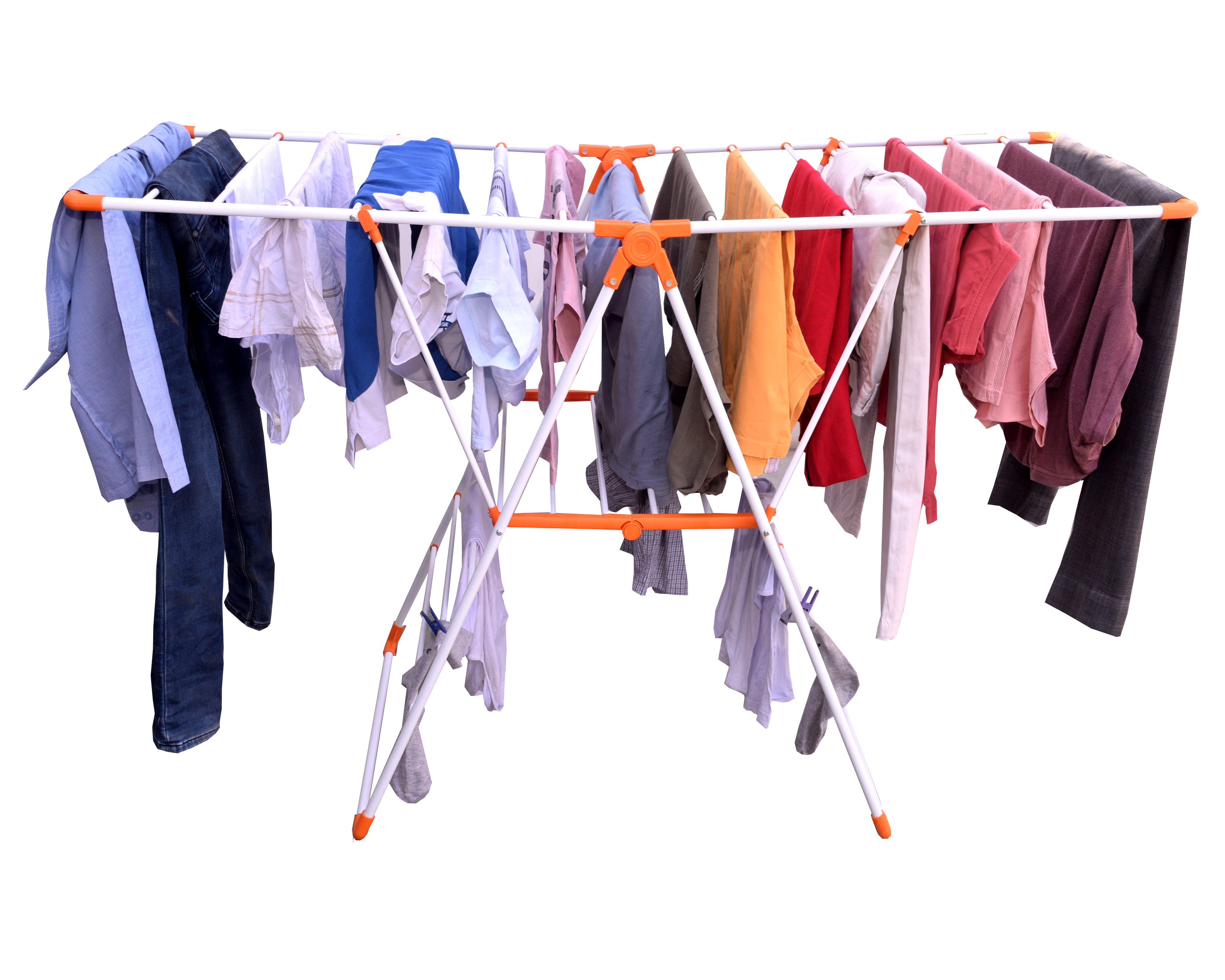 Butterfly cloth drying stand for indoor and outdoor applications