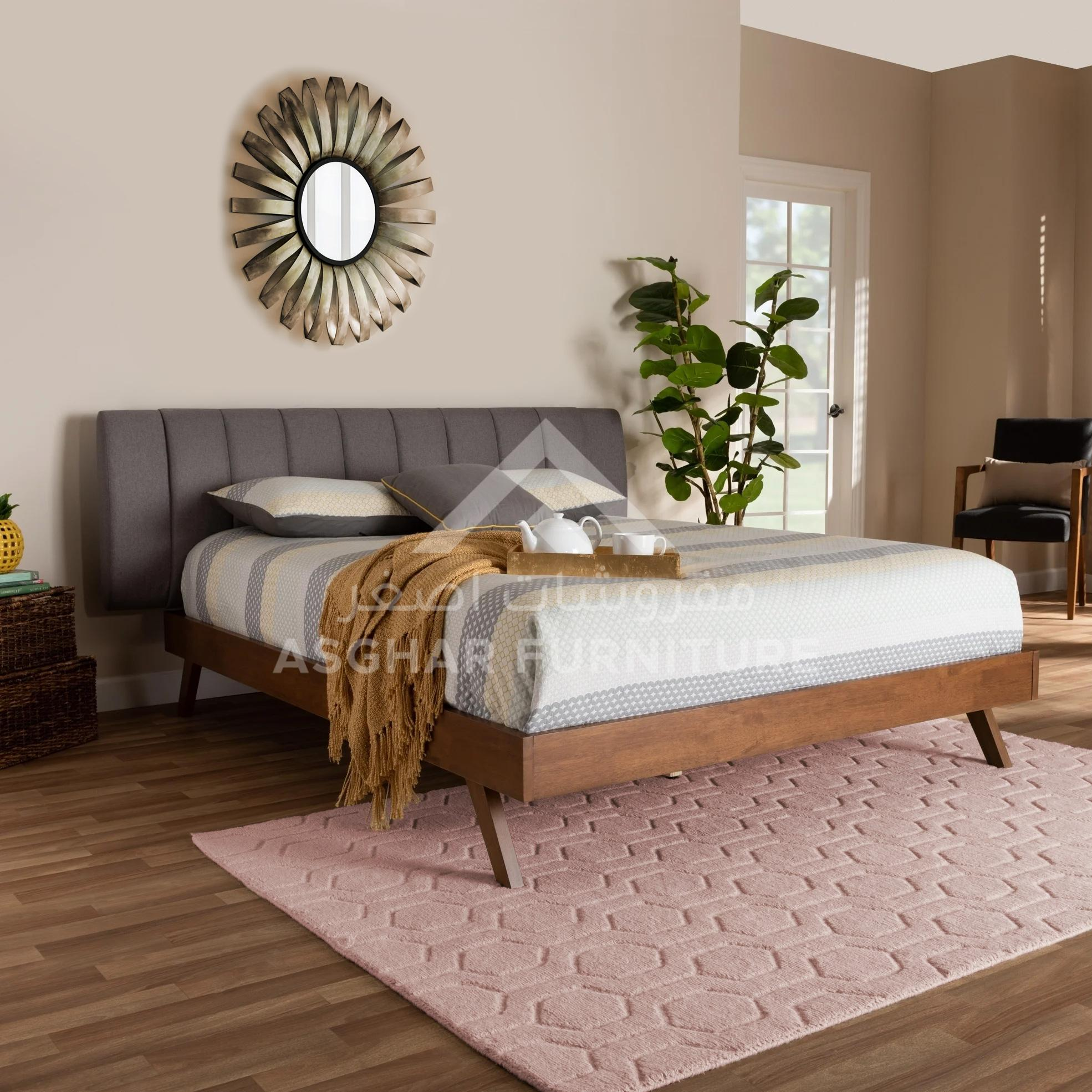 Mid-century modern fabric bed | beds furniture online