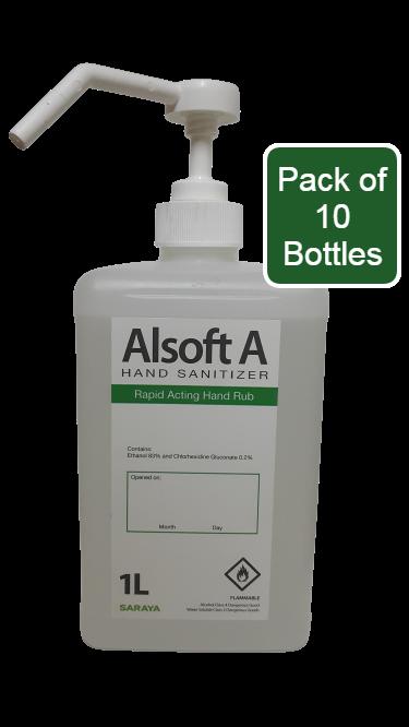 Saraya - alsoft a hand sanitizer spray/refill 1l (pack of 10)