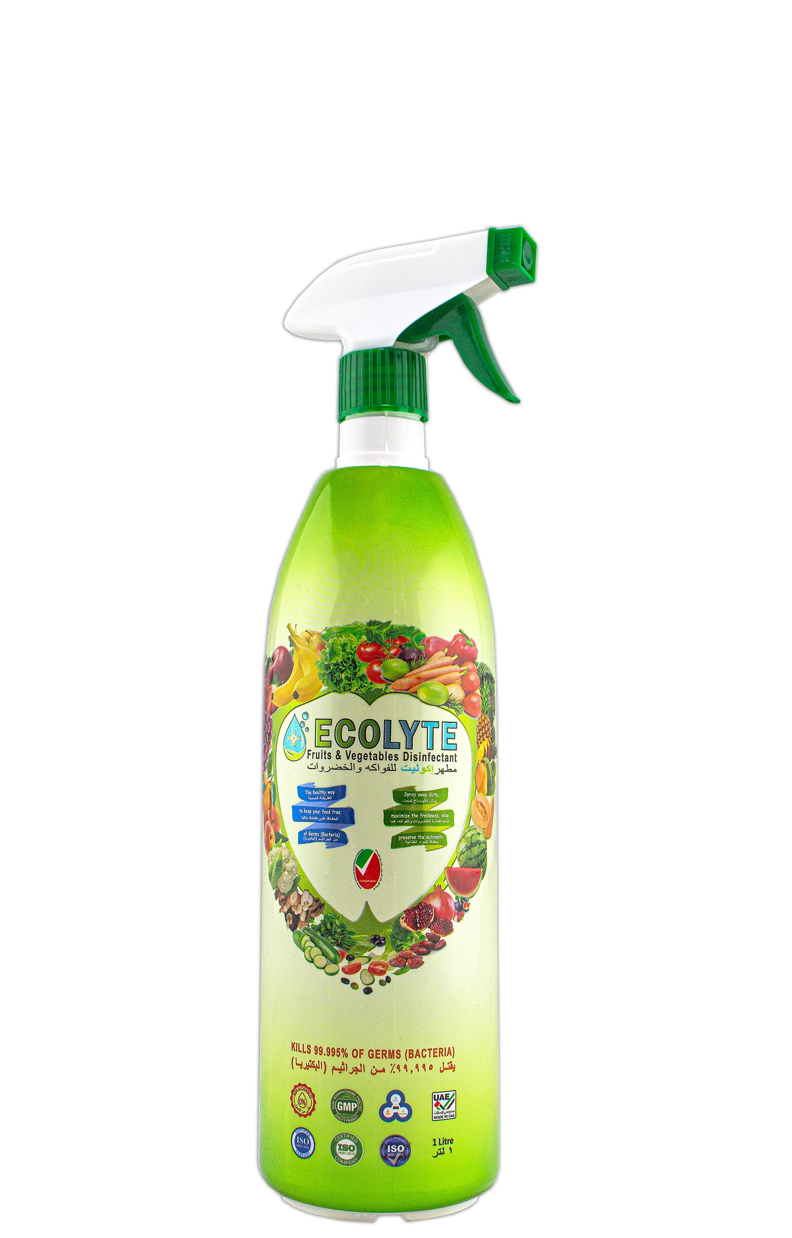 ECOLYTE FRUITS AND VEGETABLES DISINFECTANT 1LITRE