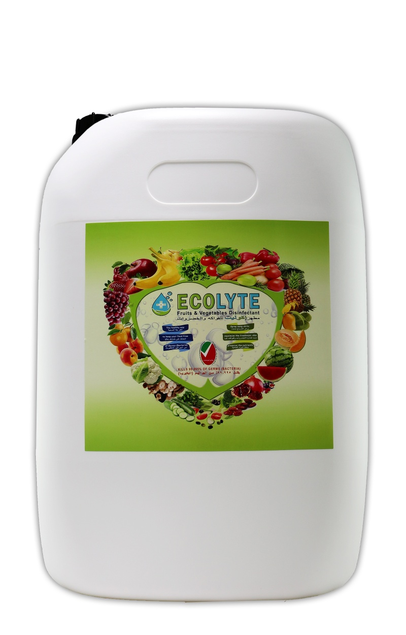 ECOLYTE FRUITS AND VEGETABLES DISINFECTANT 100% NATURAL - 20 LITRE