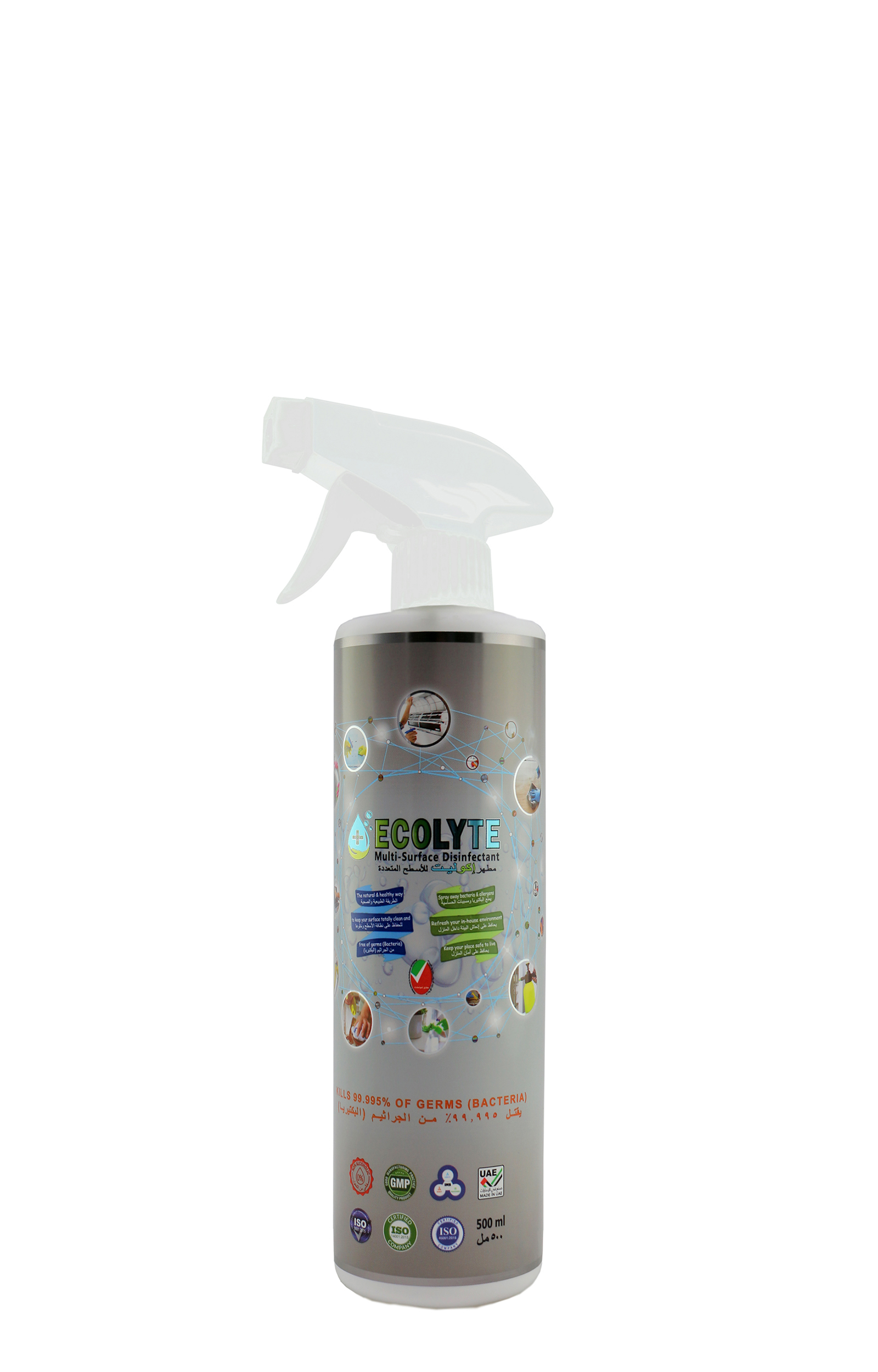 ECOLYTE MULTI-SURFACE DISINFECTANT 100% NATURAL - 500 ML