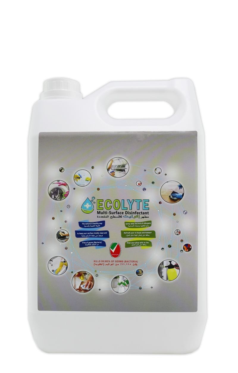 ECOLYTE MULTI-SURFACE DISINFECTANT 100% NATURAL - 5 LITRE