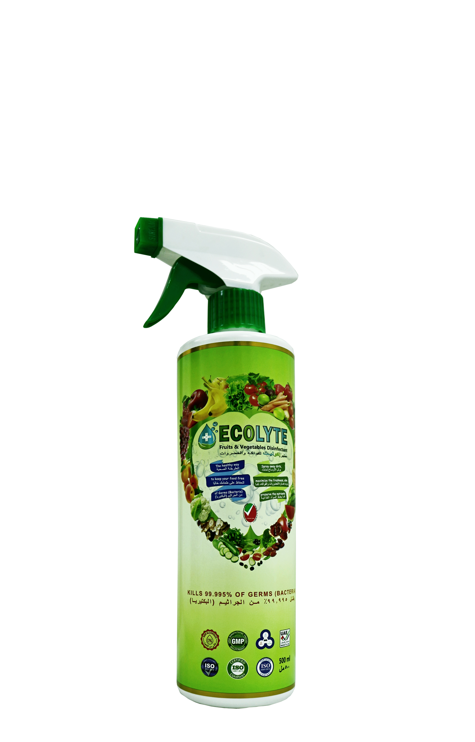 ECOLYTE FRUITS AND VEGETABLES DISINFECTANT 500ML