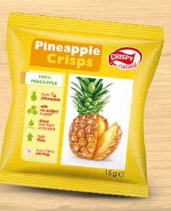 Crunchy pineapple crisps