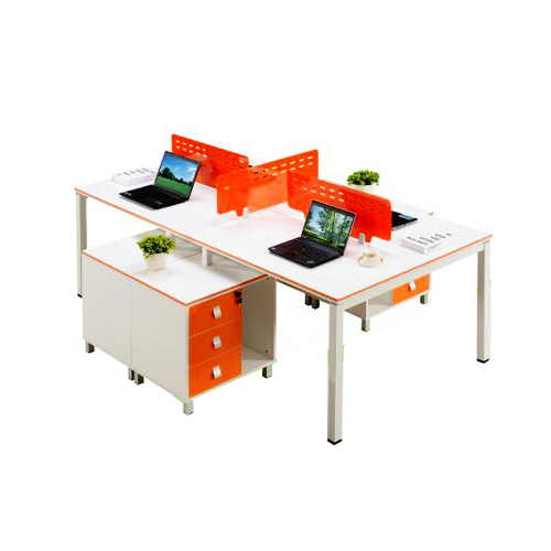 4 seater office desk with drawer cabinet