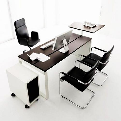 4 person white office desk