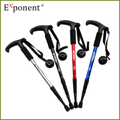 Alloy alpenstock stick high-quality plastic handle suspension pole