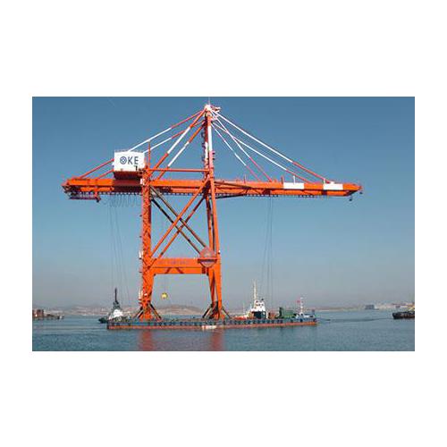 Quayside container crane