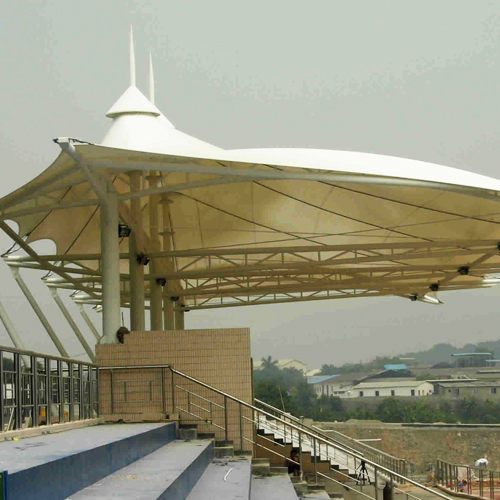 Membrane structure sports stands