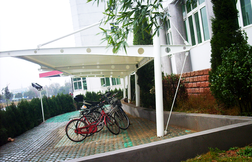 Membrane structure for  bicycle sheds