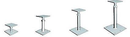 Steel pedestals