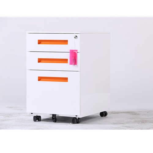 High quality 3 drawers steel movable cabinet