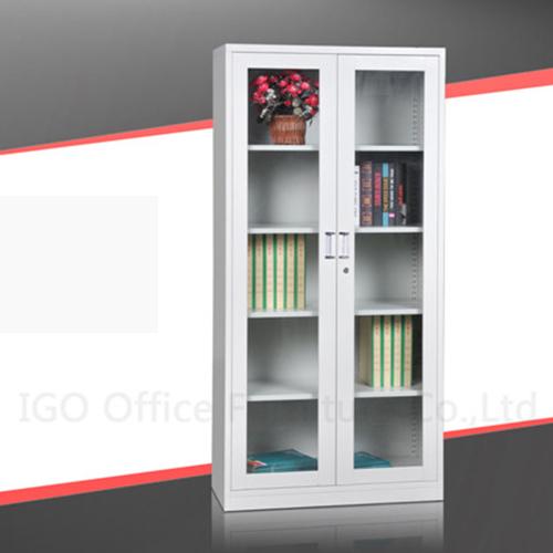 Glass door metal file cabinet