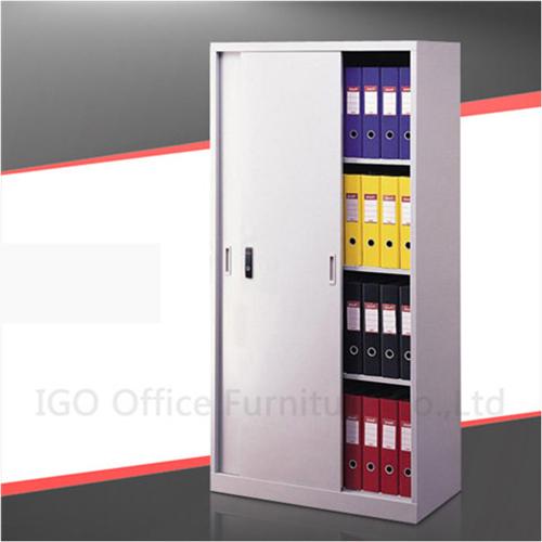 Sliding door file cabinet