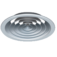 Circular ceiling diffuser with & without damper