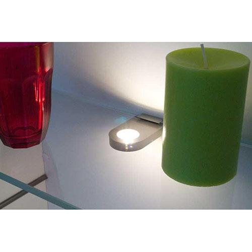"Glass point"" led glass shelf luminaire"