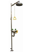 Ce industrial safety equipment stainless steel drench shower with eye wash and shower head