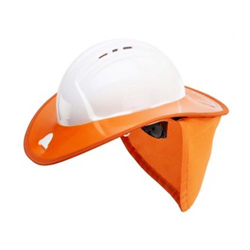 Hard hat with neck flap