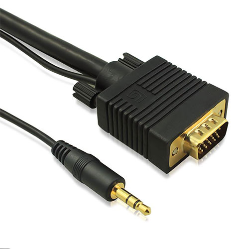 Vga cable with audio