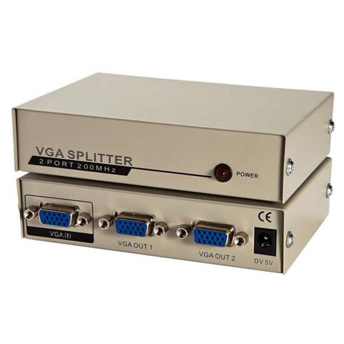 Vga splitter 1x2 200 mhz